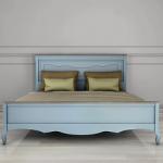кровать Leontina голубая