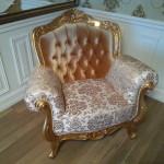 кресло Виченца,комбинация тканей.